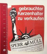 Aufkleber/Sticker: Sperr-Müll Kostenlose Private Kleinanzeigen (20041668)