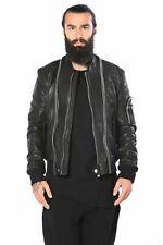 Barbarossa moratti chaqueta, s, real Leather Jacket, real chaqueta de cuero negro, nuevo