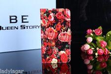 Funda libro carcasa estampado portatarjetas piel sintetica para Elephone P9000