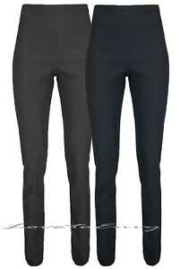 WOMENS GIRLS HIGH WAISTED TROUSER QUALITY SCHOOL WORK STRETCH PANTS size 6-18