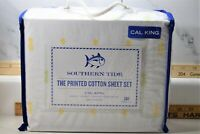 Southern Tide Pineapple California King Sheet Set in Green/Yellow