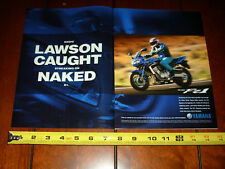 2001 YAMAHA FZ1 EDDIE LAWSON - ORIGINAL 2 PAGE AD