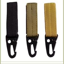 Nylon Tactical Molle Suspension Ceinture Mousqueton Clé Crochet Toile Buckle Z#