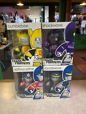Hasbro Mighty Muggs Transformers LOT of 4 SHOCKWAVE SOUNDWAVE BUMBLEBEE OPTIMUS