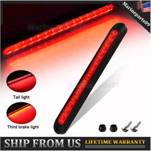 "Red LED Strip Stop Brake Turn Tail Light Bar 10"" Truck Trailer Waterproof Lights"