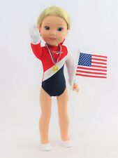 """Team USA Gymnastics Outfit Fits Wellie Wishers 14.5"""" American Girl Clothes"""