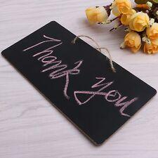 Hanging Blackboard Chalkboard Message Memo Chalk Board Wedding Home Party Decor