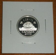 Canada 2009 Proof 5 Cents Sterling Silver with Ultra Heavy Cameo