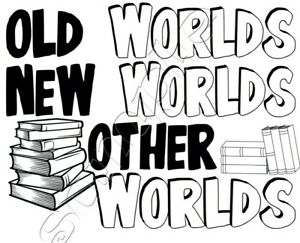 Iron on Transfer book week book week OLD WORLDS NEW WORLDS OTHER WORLDS 14x10cm
