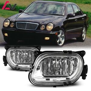 For Mercedes-Benz W210 96-99 Clear Lens Pair Fog Light Lamp OE Replacement DOT