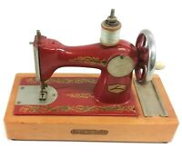 Vintage Toy Miniature Sewing Machine USSR Metal Heavy 015