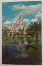 Walt Disney World Florida Postcard Vtg Mid 1900s Orlando Cinderella Castle River