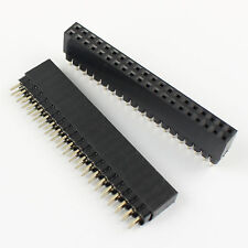 2Pcs 2.54mm Pitch 2x20 Pin 40 Pin Female Double Row Header Strip PC104 PH: 11mm