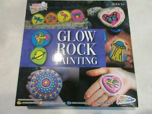 Glow Rock Painting Set Kit Paint Your Own DIY Stones Childrens