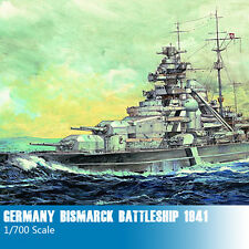 Trumpeter 05711 1/700 Germany Bismarck Battleship 1941 Plastic Assembly Models