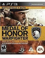 Medal of Honor: Warfighter Ps3 Game Project Honor Edition PlayStation 3