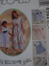 McCall's Kitty Benton Girls Dress, Pantallons & Hatband Pattern 6394 - Size 10