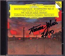 Neeme JÄRVI Signed SHOSTAKOVICH Symphony No.12 Hamlet Age of Gold Suite JARVI CD