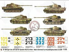 Peddinghaus 1/35 Tiger II Markings s.SS-Pz.Abt.501 Battle of the Bulge WWII 1808