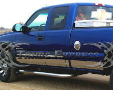 """2000-2006 GMC Sierra 4Dr Extended Cab Long Bed Rocker Panel-12p 7"""" w/Flare"""