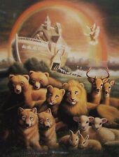 "William Hallmark ""THE PROMISE - GENESIS 9:16"" 500 Noah's Ark BOXLESS Puzzle 100%"