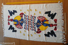 "1970's Marvel Captain America 22.5x40"" Beach Towel MINT unused Canon"