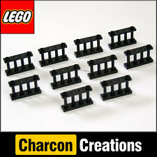 LEGO City / Town - 10 Black Spindled Fences (NEW) 3739, 4996
