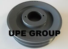 "Cast Iron pulley SHEAVE  6.25"" for electric motor 2 groove for B & 5L 5/8  belts"
