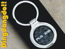 Pug 306 Chrome Alloy Keyring Key Ring Gift fit for Peugeot