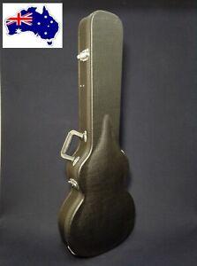 Haze 050LP Arch-Top LP Electric Guitar Hard Case, Lockable w/Key,Black,Full Size