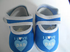 Cute Kids Blue Soft First Shoes by Soft Touch 0-4mths