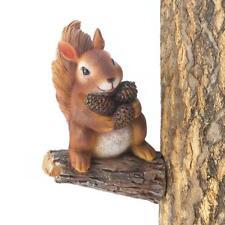 Exceptional Set Of 2 Gathering Squirrel Tree Decor Garden Statue Wildlife Yard Art