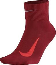 NIKE Elite Lightweight Quarter Reflective Dri-Fit Running Socks Mens 12-13.5