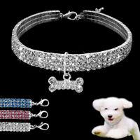 Collares para perros Cristal Collar de perro para perros pequeños medianos Azul