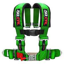4 Point Safety Harness 3 Inch Seat Belt Sand Rail RZR UTV 4x4 Jeep Crawler Green