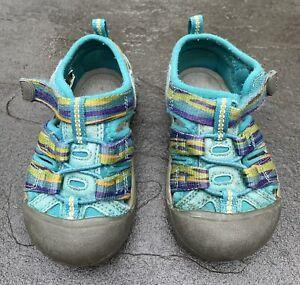 Keen Newport Toddler Girls Size 6 Teal / Blue  Waterproof Closed Toe Sandal