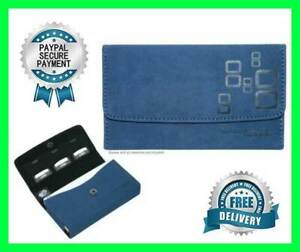 Bag Pouch Case Genuine Mad Catz Microsuede Wallet Blue For Nintendo 3DS