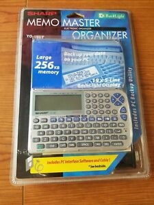 Sharp Memo Master Electronic Organizer YO-180P BackLight Factory Sealed Vintage