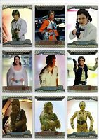 2014 Topps Chrome Star Wars Perspectives Complete 100 Card Refractor Set