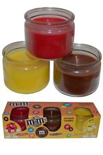 M&Ms Pack of 3 Scented Candles Apple Cinnamon Milk Chocolate Nutty Lemon Glass