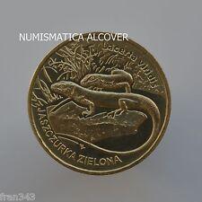 POLAND POLONIA 2 zloty 2009 GREEN LIZARD km#678   - UNC