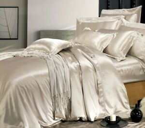 Carlty's Pure Silk Fitted Bed Sheets,100% Pure Mulberry Silk. 19mm Luxury Silk.