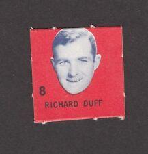 1967-68  iga  series 1   # 8  RICHARD DUFF   INV  J4414