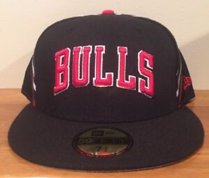Chicago Bulls New Era 59Fifty Jersey Nights 2 Fitted Hat Size 7 3/4
