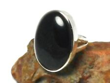 BLACK  ONYX   Sterling  Silver  925  Gemstone  RING  -  Size  M  -  Gift Boxed
