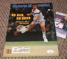 JOHN MCENROE SIGNED SPORTS ILLUSTRATED MAGAZINE AUTOGRAPH TENNIS MAC JSA AUTO