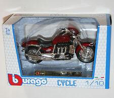 Burago-Triumph Rocket Iii (rojo) - Motocicleta Modelo Escala 1:18