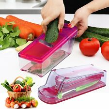 5PCS Vegetable Fruit Mandolin Slicer Peeler Dicer Cutter Chopper Nicer Grater