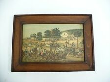 Vintage Print Fast Trotters On Harlem Lane N.Y. By Currier & Ives.