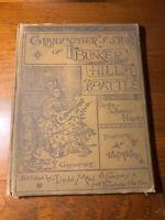 HTF Children's Bunker Hill Battle Oliver Wendell Holmes 1883 Color Illustrated !
